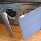Washer/dryer revealed, Bathroom Remodel, Pacific Grove