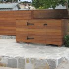 Trash can enclosure, Fence/Wall, Pacific Grove